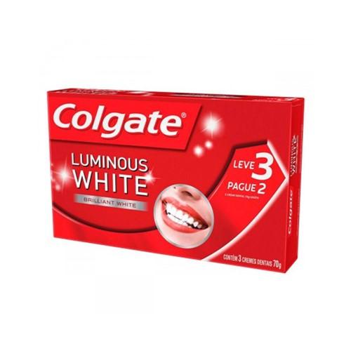 Leve 3 Pague 2 Creme Dental Colgate Luminous White 70g