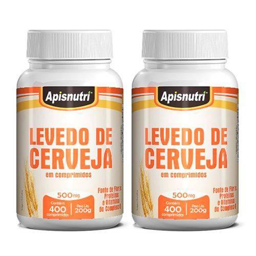 Levedo de Cerveja - 2 Un de 400 Comprimidos - Apisnutri