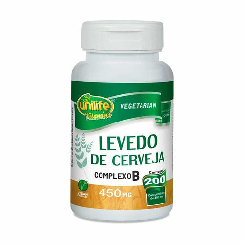 Levedo de Cerveja - Unilife - 200 Comprimidos de 450mg