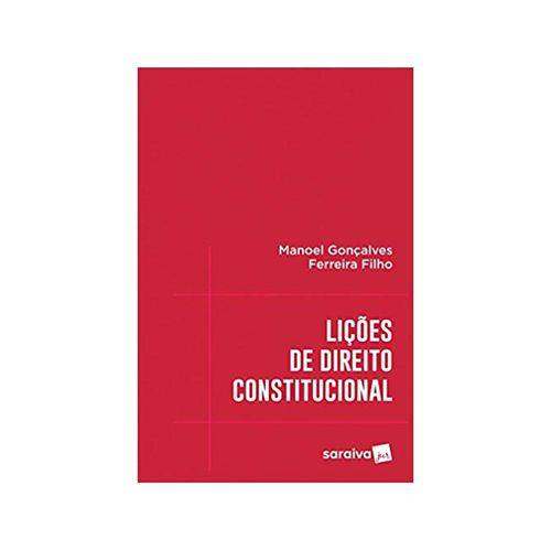 Lições de Direito Constitucional 1ªed. - Saraiva