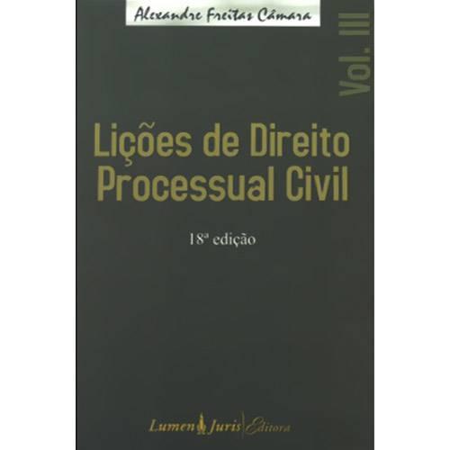 Lições de Direito Processual Civil - Vol.3