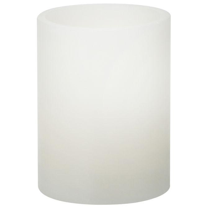 Light Up Vela Led 10 Cm X 7 Cm Branco