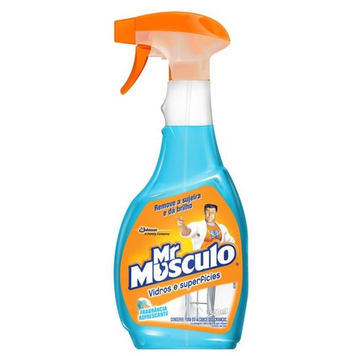 Limpa Vidr Mr.Musculo 500ml Apar