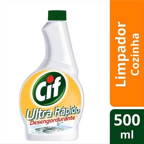 Limpador Desengordurante Cif 500ml Refil