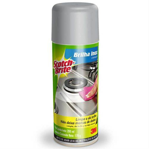 Limpador Spray Brilha Inox Scotch Brite - 3m