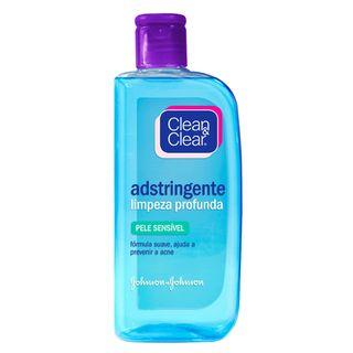 Limpeza Facial Clean & Clear Adstringente Pele Sensível 200ml