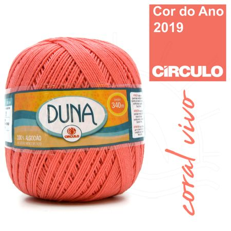 Linha Duna Círculo 200g - 4004 Coral Vivo
