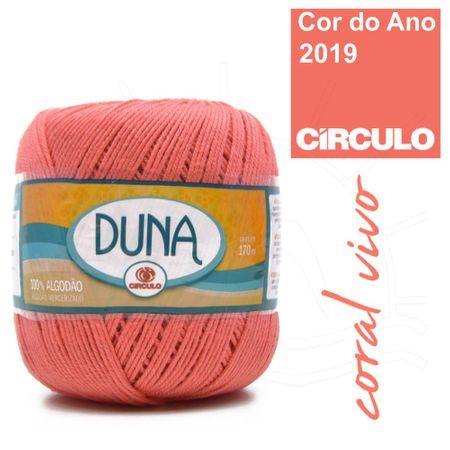 Linha Duna Círculo 100g - 4004 Coral Vivo