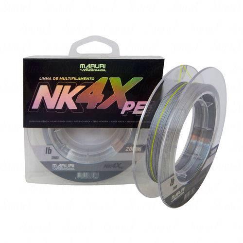 Linha Maruri By Nakamura NK 4X PE Cinza (0,33mm 44lb) 200m