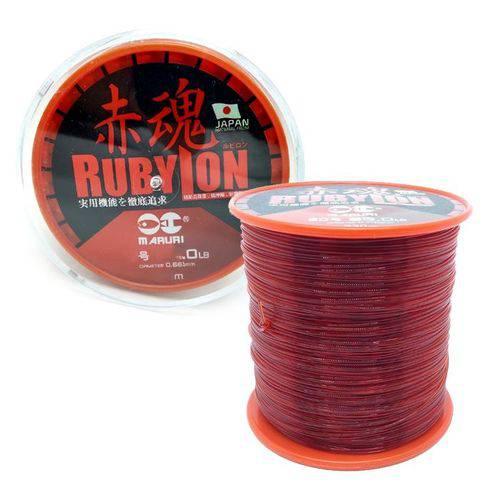 Linha Monofilamento Maruri Rubylon 3.5 17lb Vermelha (0.30mm - 600m)