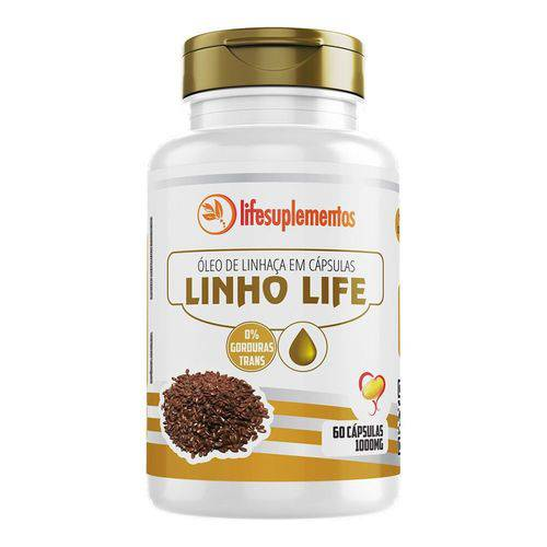 Linho Life - Óleo de Linhaça - 60 Càps. - 1000mg