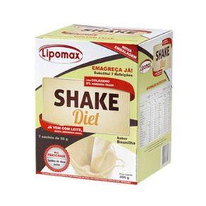Lipomax Shake Diet Baunilha 40 Gramas 7 Unidades