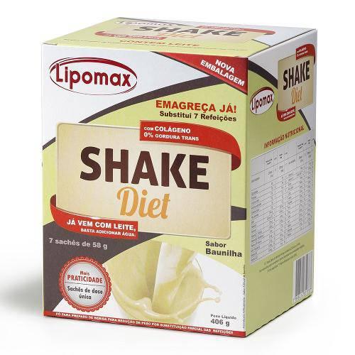 Lipomax Shake Diet Baunilha 58g C/ 7 Sachês