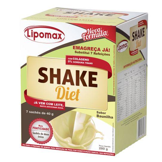 Lipomax Shake Diet Baunilha com 7 Sachês de 40g