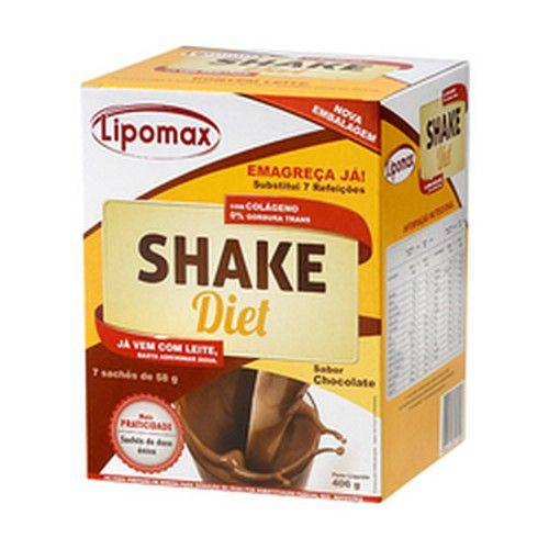 Lipomax Shake Diet Chocolate 40 Gramas 7 Unidades