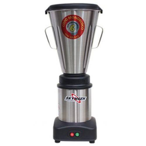 Liquidificador Comercial Inox, Copo Monobloco Inox, 6 Litros - Ls-06mb-N - Skymsen - Skymsen