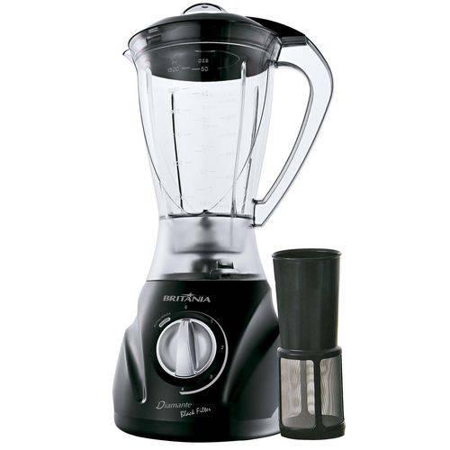 Liquidificador Diamante Black Filter - 600 W BRITÂNIA
