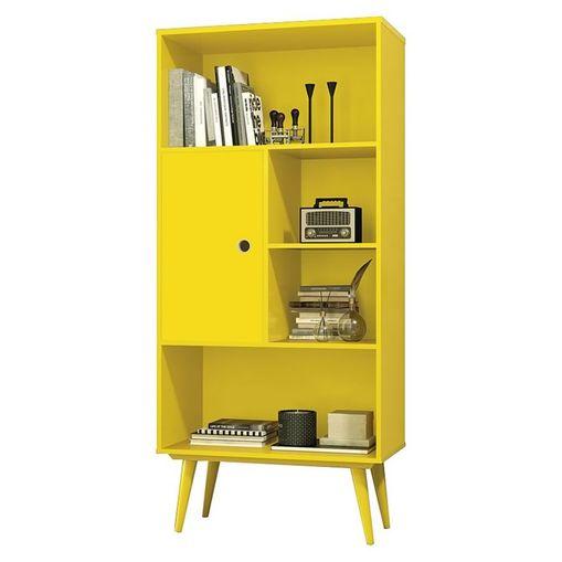 Livreiro com 1 Porta Amarelo Chaplin EDN