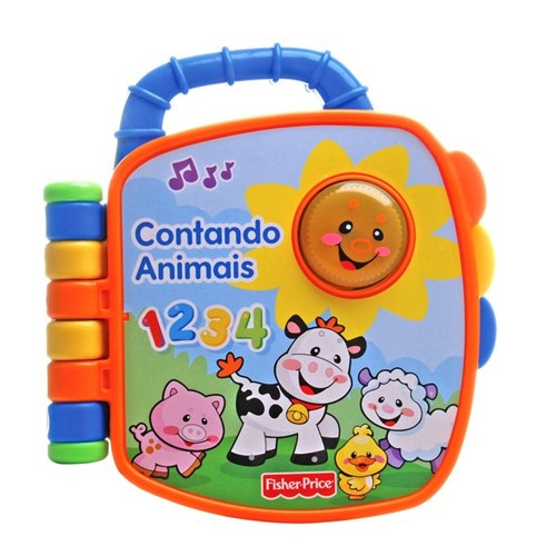 Livrinho Aprender e Brincar Fisher-Price - Contando Animais P5319 - FISHER-PRICE
