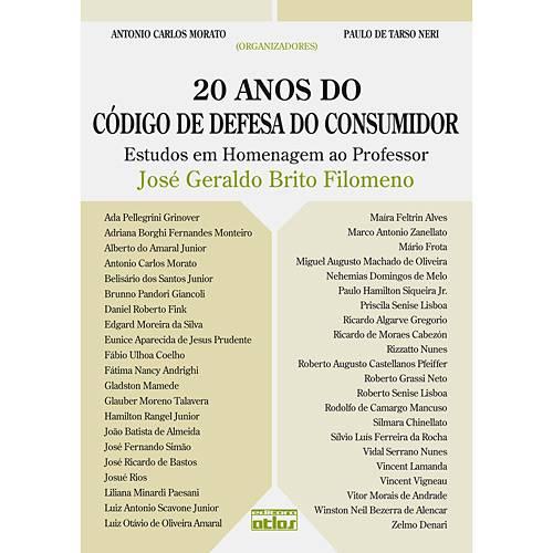 Livro - 20 Anos do Código de Defesa do Consumidor