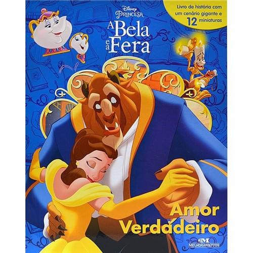Livro a Bela e a Fera com 12 Miniaturas - Amor Verdadeiro - MELHORAMENTOS
