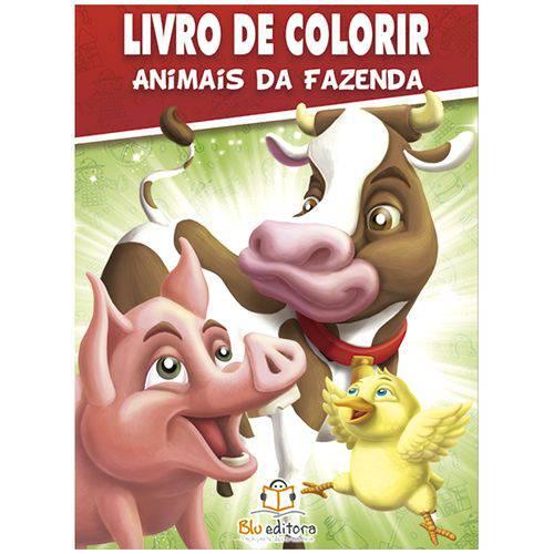 Livro - Animais da Fazenda: Col. Livro de Colorir C/ 80 Páginas