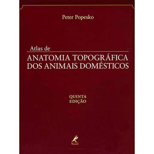 Livro - Atlas de Anatomia Topográfica dos Animais Domésticos