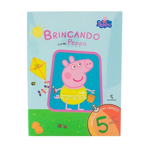 Livro Brincando com Peppa a Partir de 5 Anos Autores Mark Baker e Neville Astley