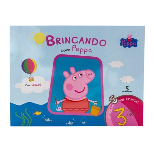 Livro Brincando com Peppa a Partir de 3 Anos Autores Mark Baker e Neville Astley