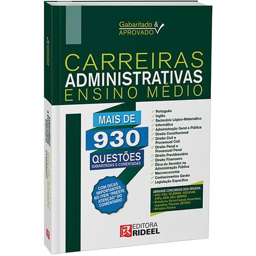 Livro - Carreiras Administrativas Ensino Médio - Gabaritado e Aprovado