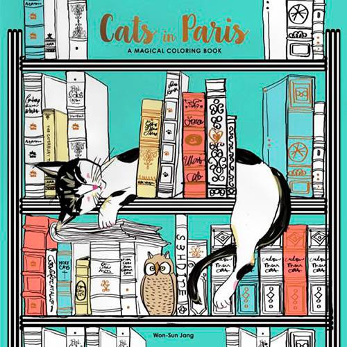 Livro - Cats In Paris: a Magical Coloring Book