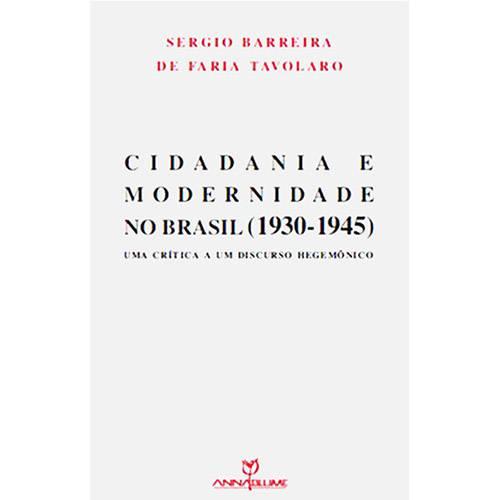 Livro - Cidadania e Modernidade no Brasil (1930-1945)