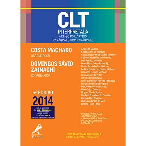 Livro - CLT Interpretada: Artigo por Artigo, Parágrafo por Parágrafo