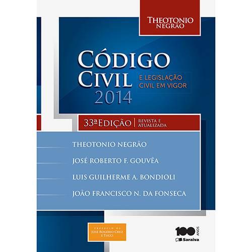 Livro - Código Civil 2014 e Legislação Civil em Vigor