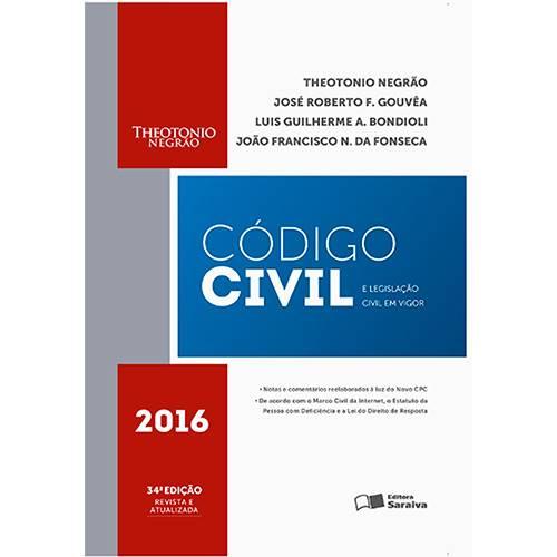 Livro - Código Civil e Legislação Civil em Vigor - 2016