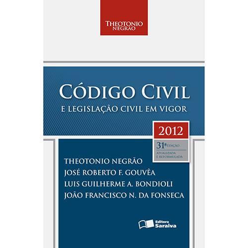 Livro - Código Civil e Legislação Civil em Vigor