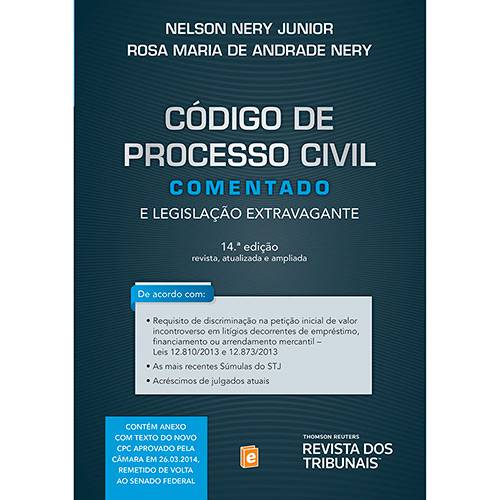 Livro - Código de Processo Civil Comentado e Legislação Extravagante