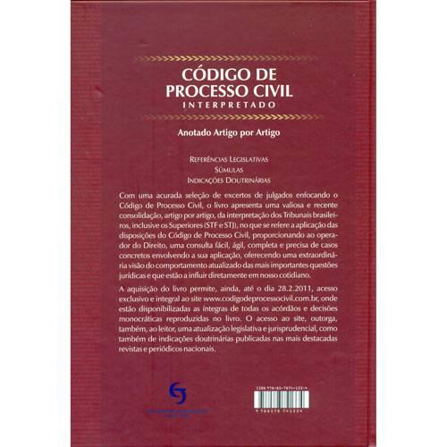 Livro - Código de Processo Civil - Interpretado