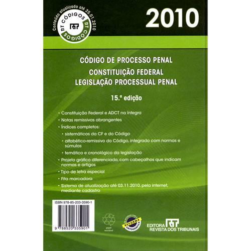 Livro - Código de Processo Penal 2010