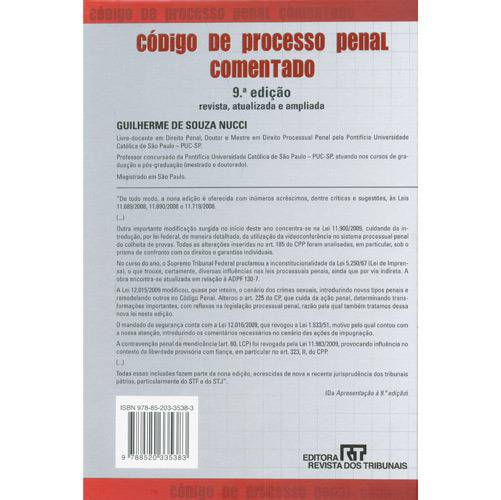 Livro - Código de Processo Penal Comentado