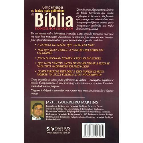 Livro - Como Entender os Textos Mais Polêmicos da Bíblia - Evangelhos Sinóticos
