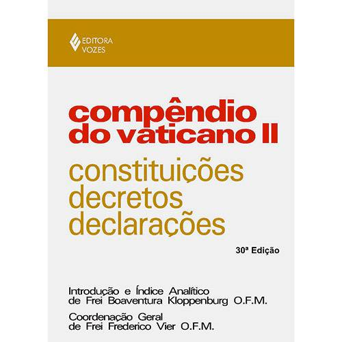 Livro - Compêndio do Vaticano II: Constituições, Decretos e Declarações