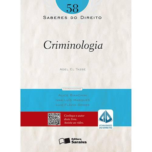 Livro - Criminologia: Saberes do Direito - Vol. 58