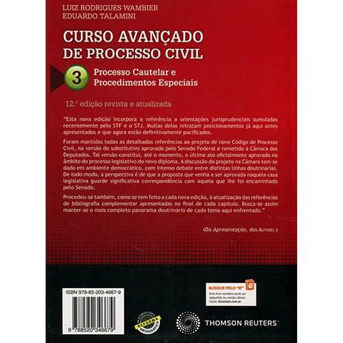 Livro - Curso Avançado de Processo Civil: Processo Cautelar e Procedimentos Especiais - Volume 3