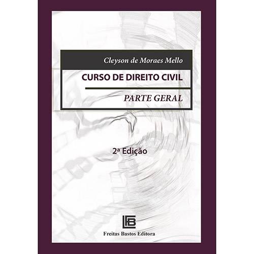 Livro - Curso de Direito Civil: Parte Geral