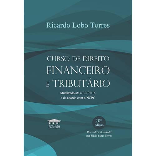 Livro - Curso de Direito Financeiro e Tributário