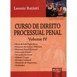 Livro - Curso de Direito Processual Penal, V.4