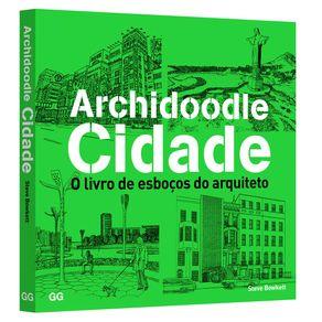 Livro de Desenho - Archidoodle Cidades - o Livro de Esboços do Arquiteto