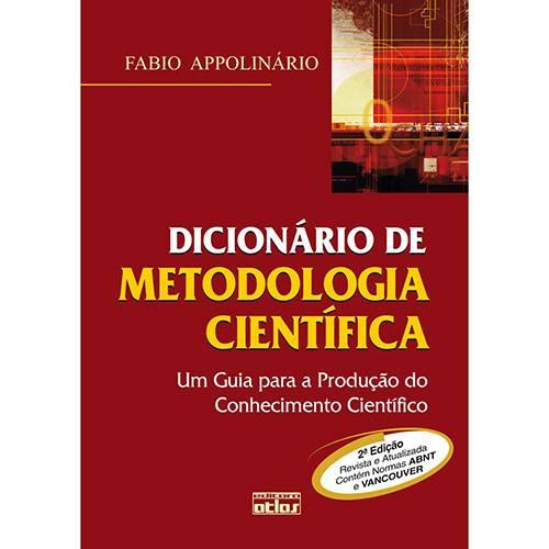Livro - Dicionário de Metodologia Científica - um Guia para a Produção do Conhecimento Científico