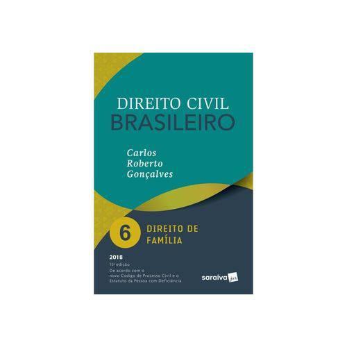 Livro - Direito Civil Brasileiro - Vol 6 - Direito da Família - Gonçalves